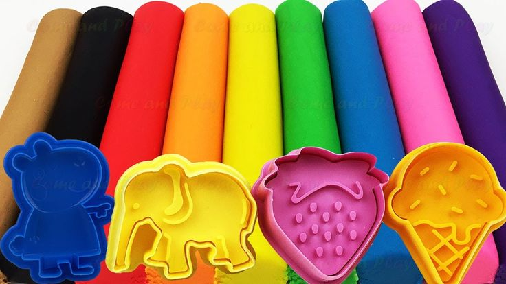 Learn Colors with Play Doh Ice Cream Peppa Pig Elephant Molds Surprise! Fun & Creative For Kids - YouTube