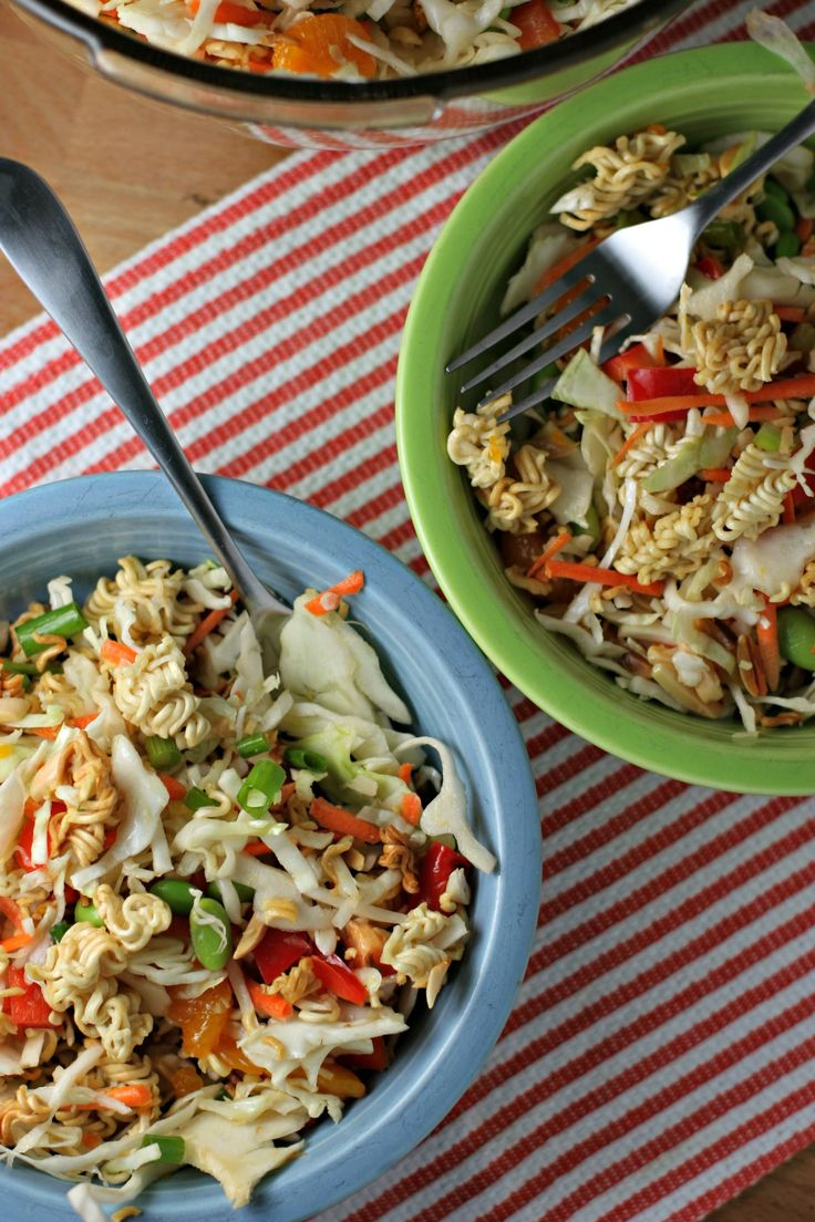 Crunchy Asian Cabbage Salad ~vegan~ The perfect summertime side dish!