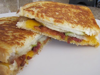 Cheddar, Bacon, Pear Grilled Cheese