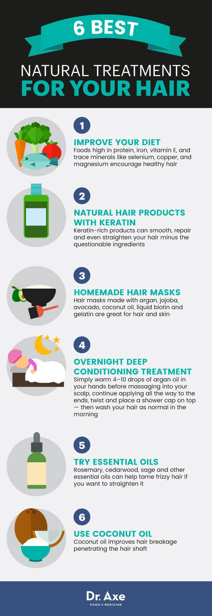 Natural treatments for hair - Dr. Axe http://www.draxe.com #health #holistic #natural