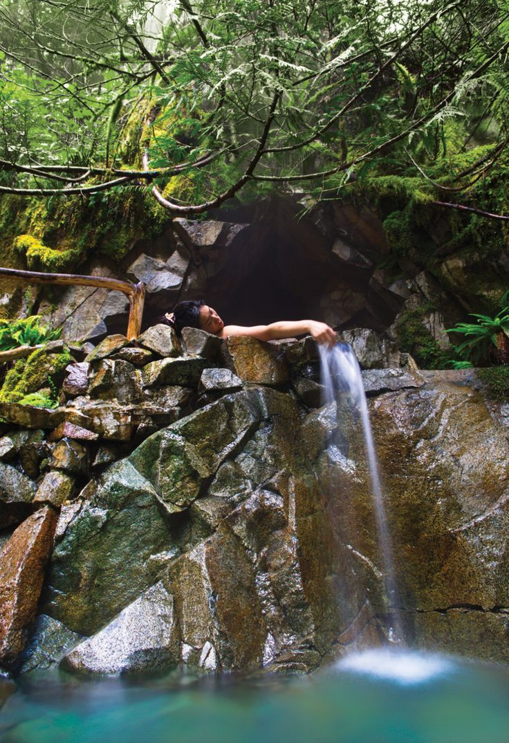 Goldmyer Hot Springs, just outside of Seattle Wa. Treacherous hike, but so worth it!!