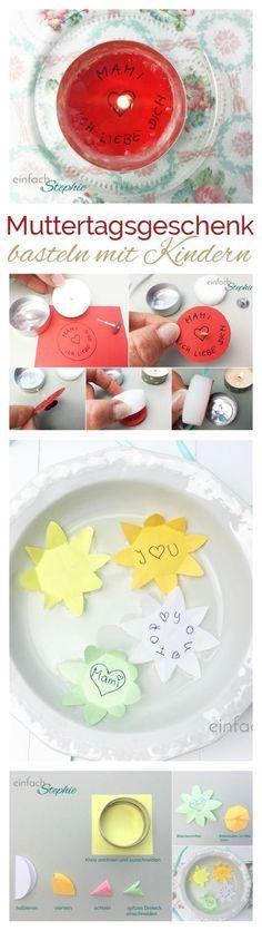 Muttertagsgeschenk basteln mit Kindern mit Anleitung, ganz einfach. Auch als Geschenk für Vatertag oder zum Basteln zum Valentinstag toll! https://einfachstephie.de/muttertagsgeschenk-basteln-mit-kindern/
