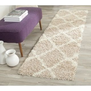 Shop for Safavieh Dallas Shag Beige / Ivory Area Rug Runner (2'3 x 6'). Free Shipping on orders over $45 at Overstock.com - Your Online Home Decor Outlet Store! Get 5% in rewards with Club O! - 20791392