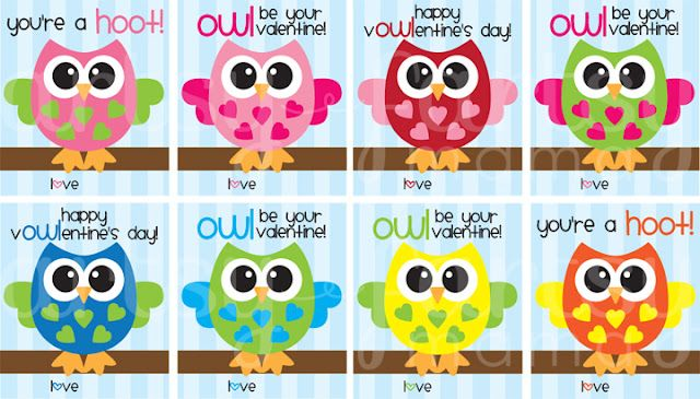 Owl Valentines {Printable}-A problem solver for those students who forget to bring their valentines to school. and yes we-STILL exchange valentines.