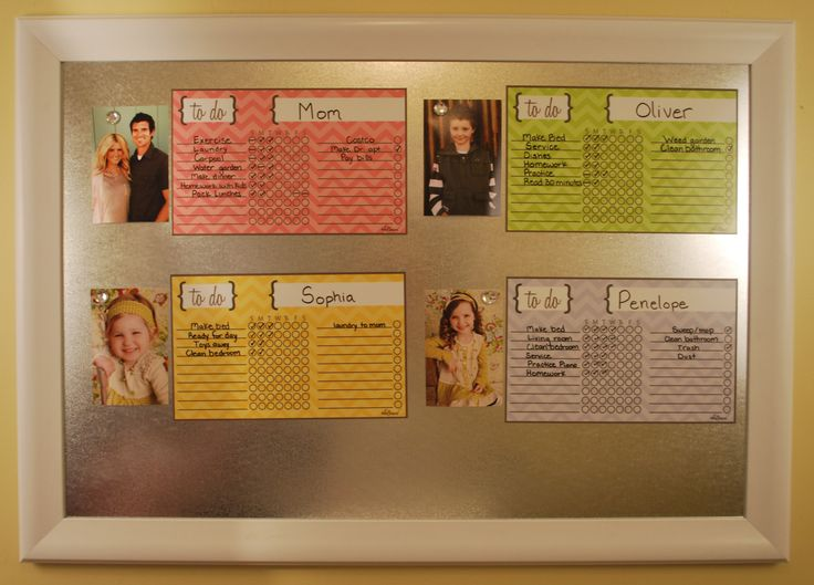 7 Best Magnetic Calendars And Chore Charts Images On