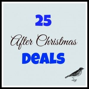 Did you know that you can pick up some really great deals after Christmas? Not only can you stock up on things for the next holiday, but also save money on things you can use all year long.