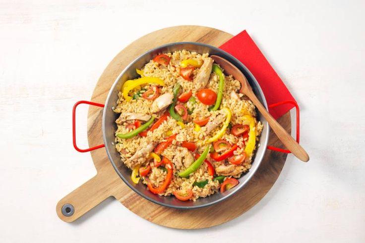 1 augustus - Kipdijfilet + paellarijst in de bonus bij Albert Heijn = #bonuskoken op z'n Spaans - Recept - Allerhande
