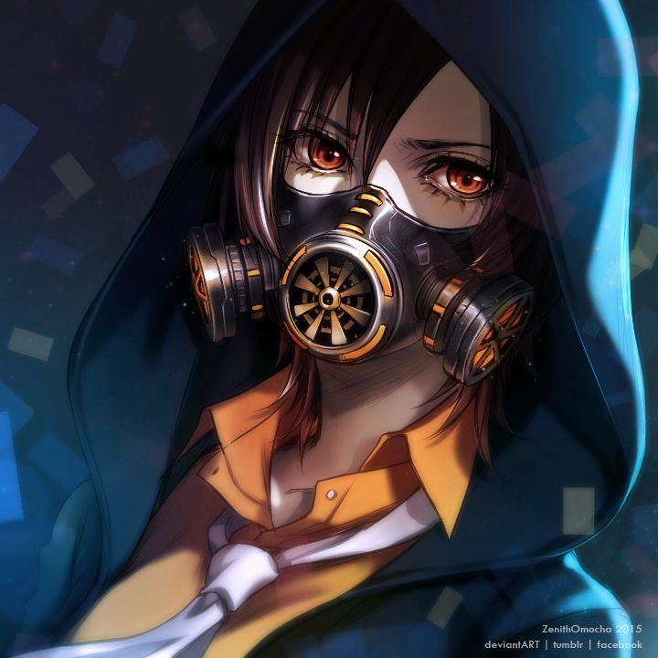 112 best images about gas mask on pinterest spotlight - Anime girl with gas mask ...