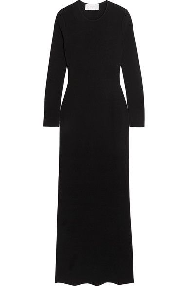 Esteban Cortazar - Peace Sign Open-back Stretch-knit Maxi Dress - Black - x small
