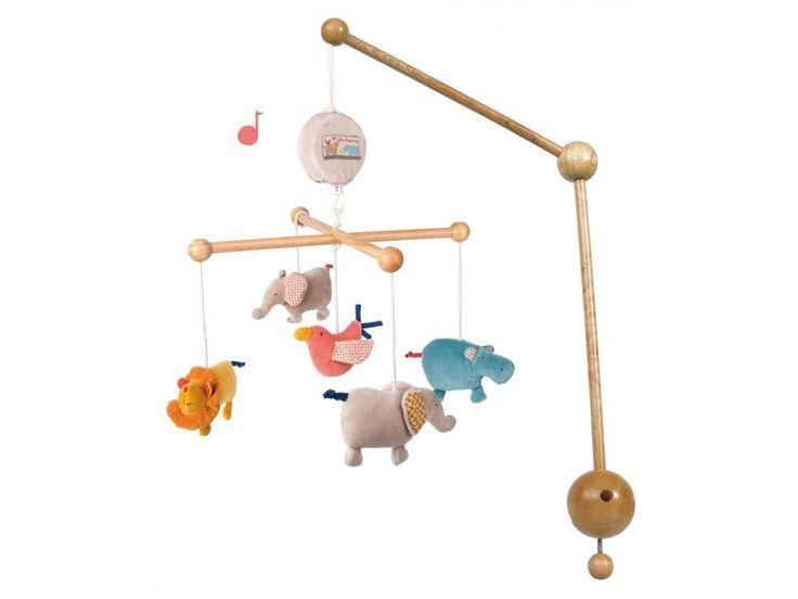 Moulin Roty - Mobile musical Les Papoum #paris #baby #babygirl #babyboy #fashionkids #puériculture #bebe #bébé #maternité #listedenaissance #naissance #cadeaunaissance #futuremaman #grossesse #enceinte #jeu #jouet #enfant #activité #deco #kids #babyroom #moulinroty #mobilemusical