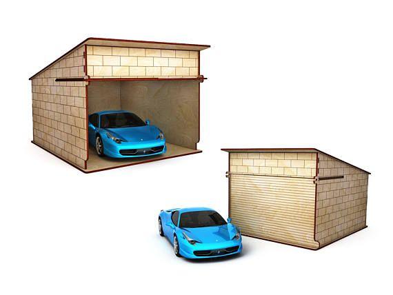 Garage for Dollhouse , Parking deck, Garage,Doll house, wooden dollhouse, dollhouse kit, miniature, Dolls Miniatures