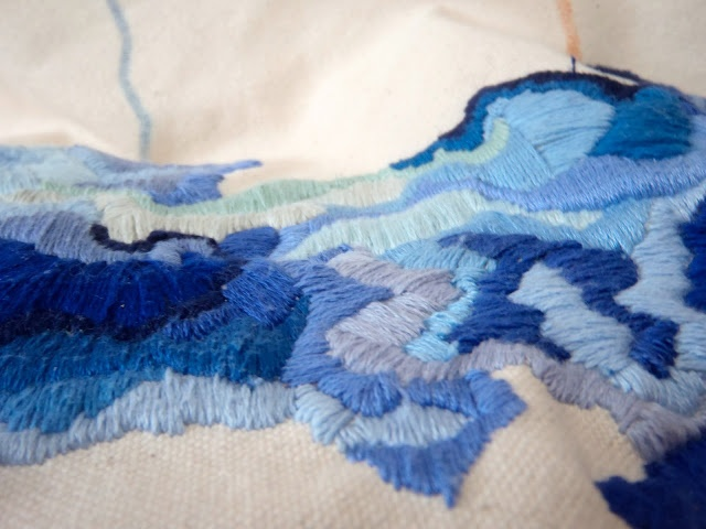 Needle.Points.North Blog. Embroidery project