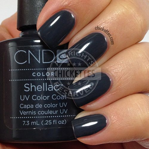 CND Shellac Asphalt Swatch by Chickettes.com