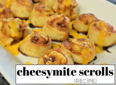 CHEESY-MITE SCROLLS RECIPE - if you've ever wanted to try vegemite, this easy party recipe wil l convert you + your friends