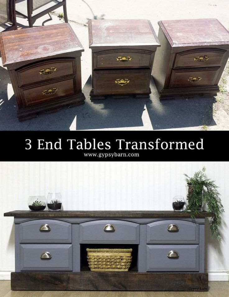 Three end tables were heading to the dump! I got the call to come and try and save them! I ended up with 3 truckloads of items to play with! Almost all of it wa…