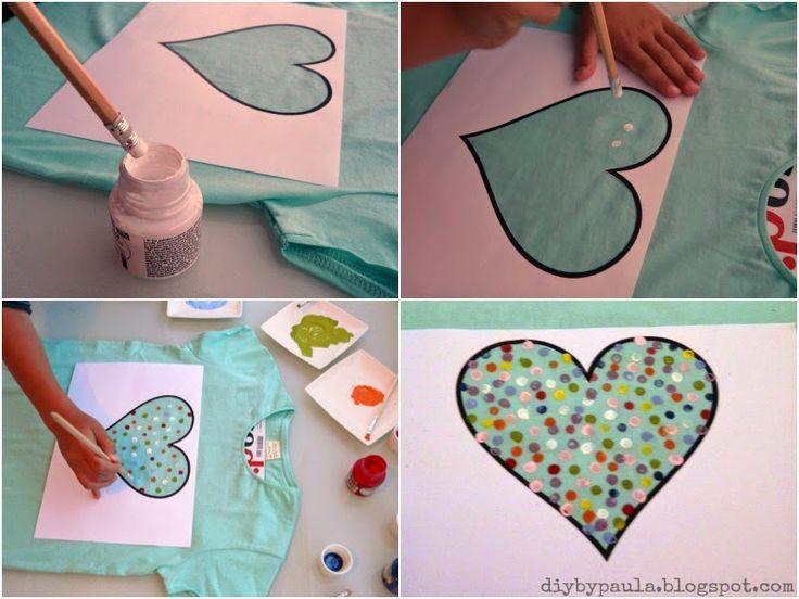 Diy by Paula: Una camiseta estampada con corazón
