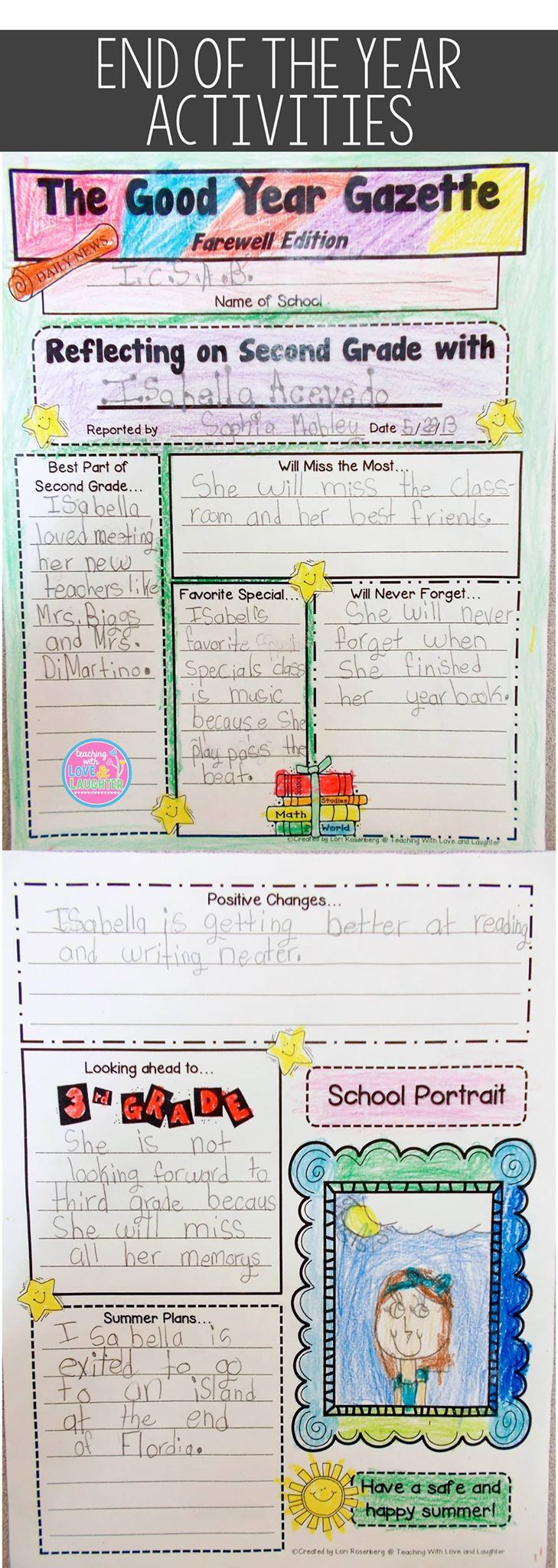 End Of School Worksheets : Fun end of the year activities new teachers pinterest