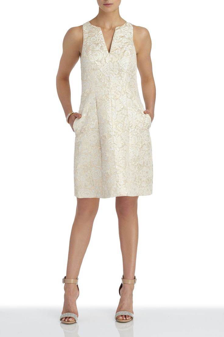 Aiden Mattox Sleeveless Brocade Dress - Occasion - Dresses - Shop By: - Clothing | Melanie Lyne