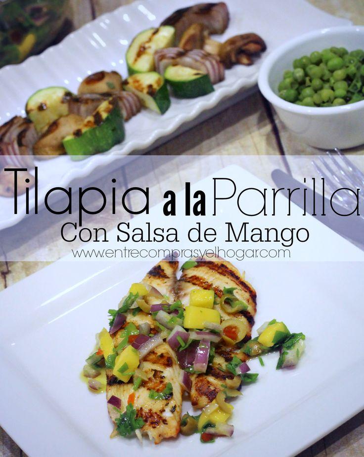 Tilapia a la Parrilla con Salsa de Mango