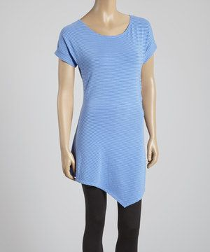 Look at this #zulilyfind! Cornflower Side-Gather Organic Tunic - Women by Blue Canoe #zulilyfinds