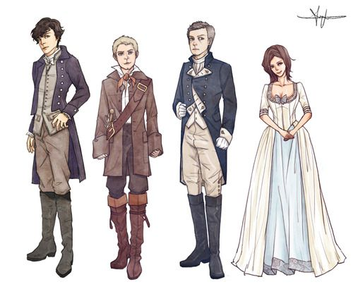Cast of BBC's Sherlock in Pirate costumes by lisajeong (12 march 2013)