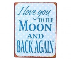 Decoratiune de perete To The Moon And Back