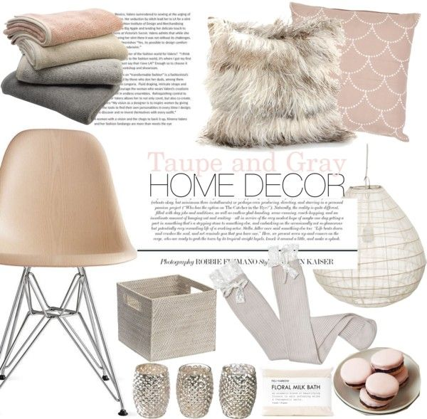"""taupe and gray home decor"" by punnky-interiors on Polyvore"