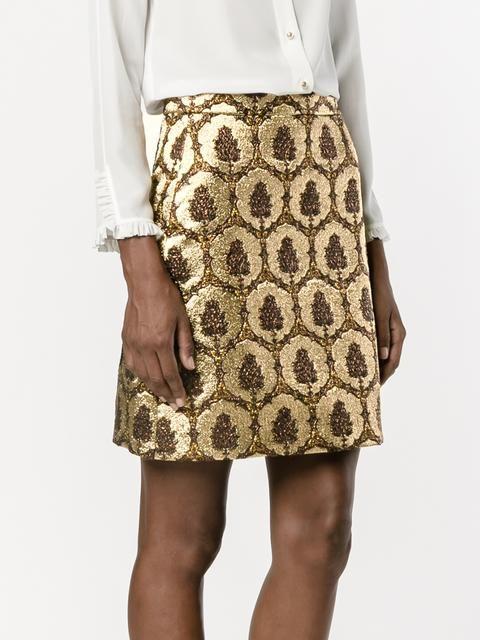 Gucci ジャガードミニスカート