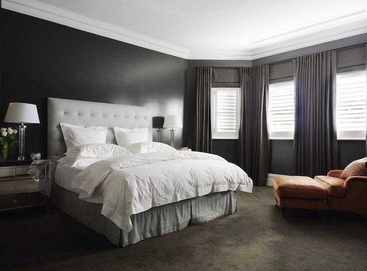 Denai Kulcsar Interiors Bedrooms Gray And Orange