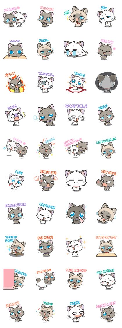 """Hoshi & Luna Diary"" the 5th series. All cat lovers don't miss. Send it to your friends now!."