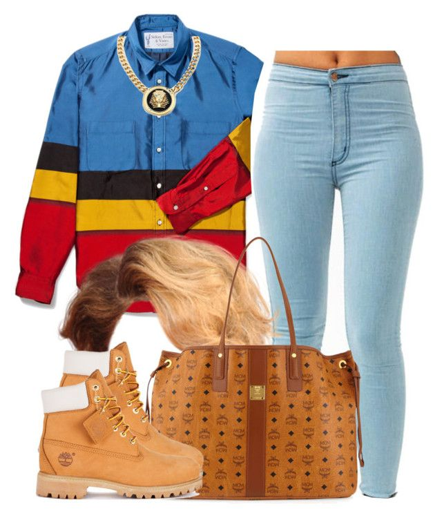 """""""Lil house party-Cecelia"""" by trillest-queen ❤ liked on Polyvore featuring Roial, MCM and Timberland"""