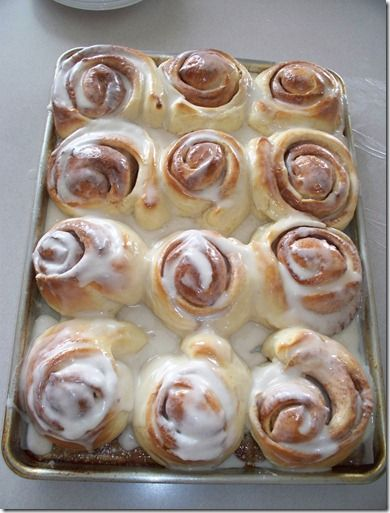 -One Hour Cinnamon Rolls! This is the best recipe I have found, easy and quick and super delicious!