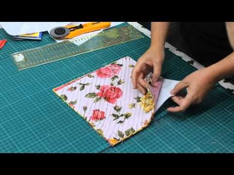 Cómo hacer patchwork paso a paso: Reciclar retales de tela rápido y fácil - YouTube