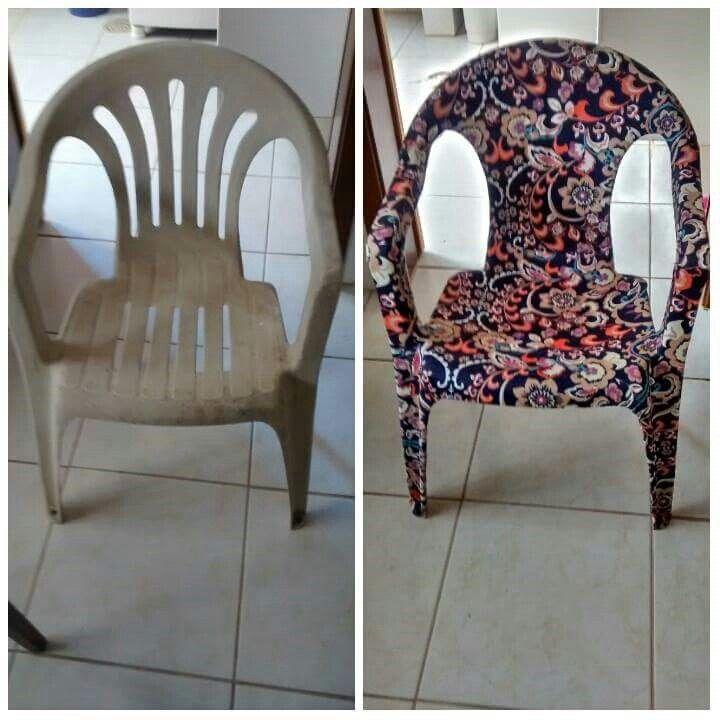 Cadeira encapada tecido