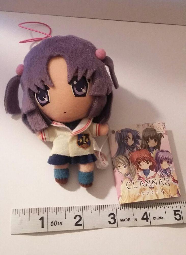 Clannad Dango School Girl Plush Doll Figure Keychain Strap From