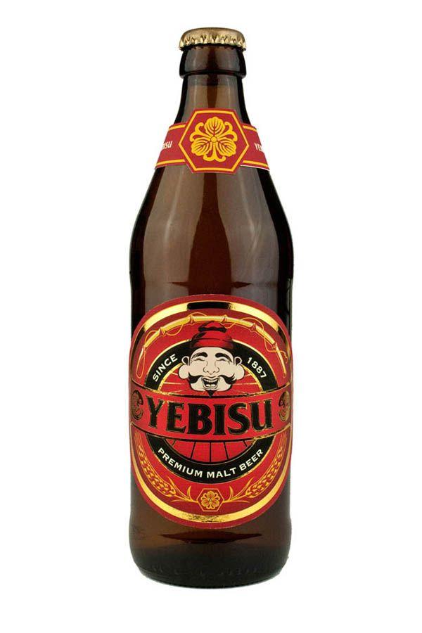 Japanese Yebisu beer packaging design