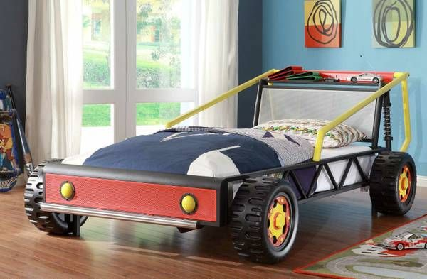 ***.......Vroom! Vroom! Your child will be one step closer to their dreams of being a race car driver in the Track Collection. This Low profile Twin bed will get high profile compliments for the...
