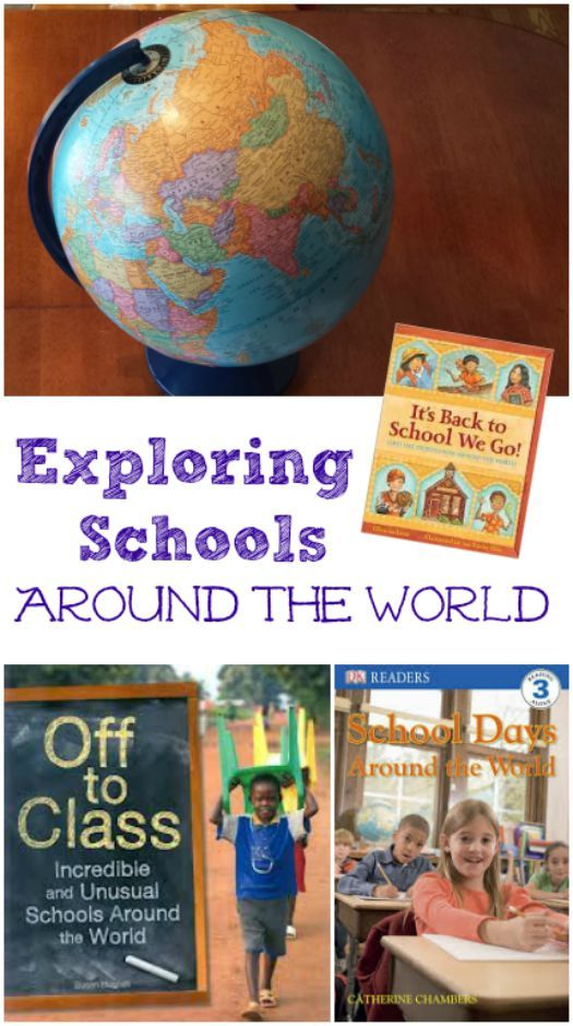 Fun way to introduce geography & world culture -- includes FREE worksheet so kids can compare school day activities from around the world!
