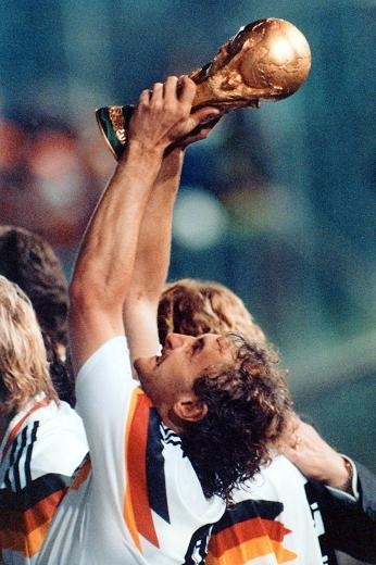 Rudi Völler -GERMANY | Italy 1990 ---The tournament was won by West Germany, who claimed their 3rd World Cup title by defeating reigning champions Argentina 1–0 in the final, a rematch of the previous final four years earlier...