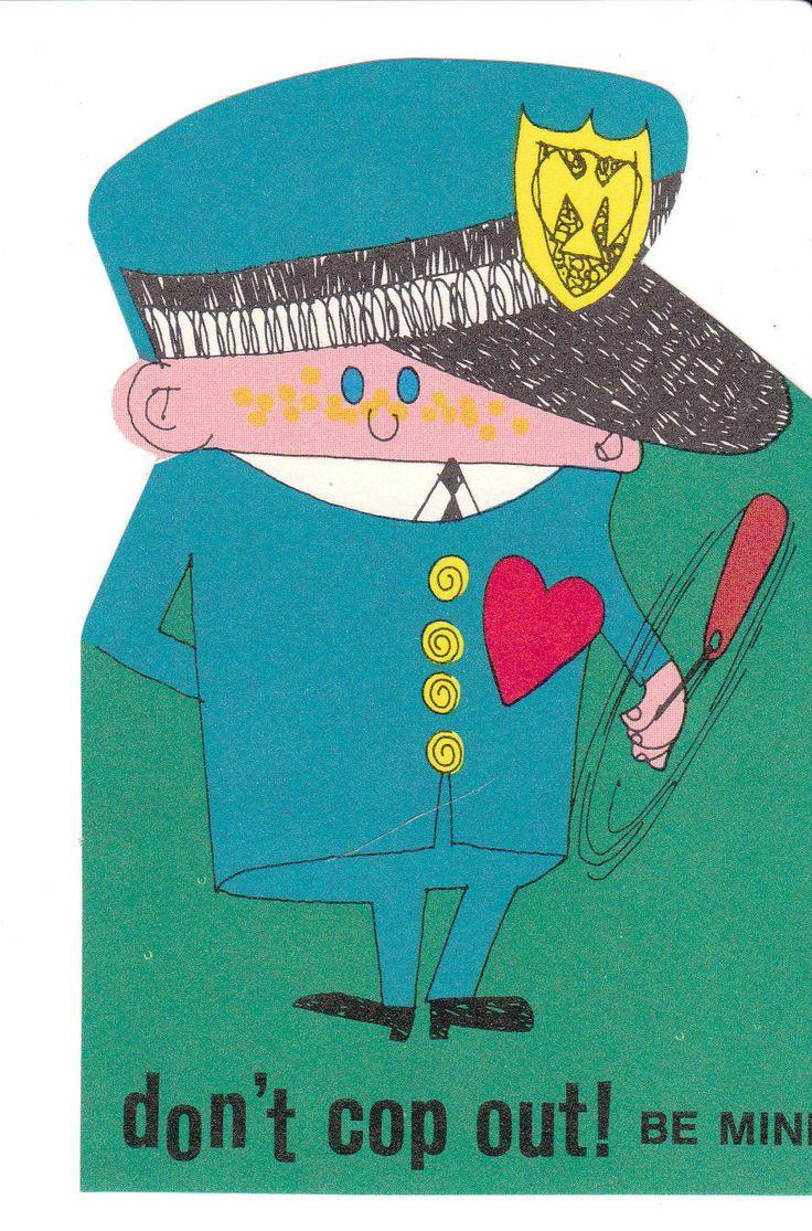 27 Best Police Valentines Day Images On Pinterest Vintage Cards