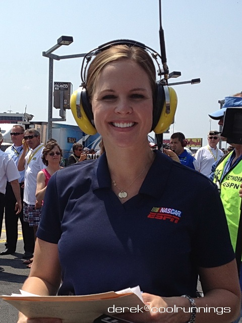Shannon Spake is a NASCAR correspondent for ESPN. Spake contributes to both NASCAR Countdown and NASCAR Now.