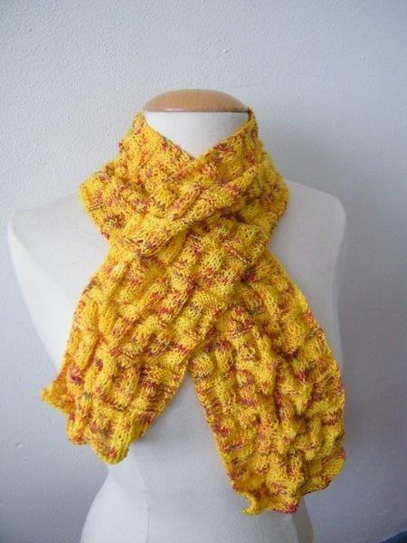 Sjaals - Vrolijke gele sjaal - Een uniek product van EccentricLady op DaWanda