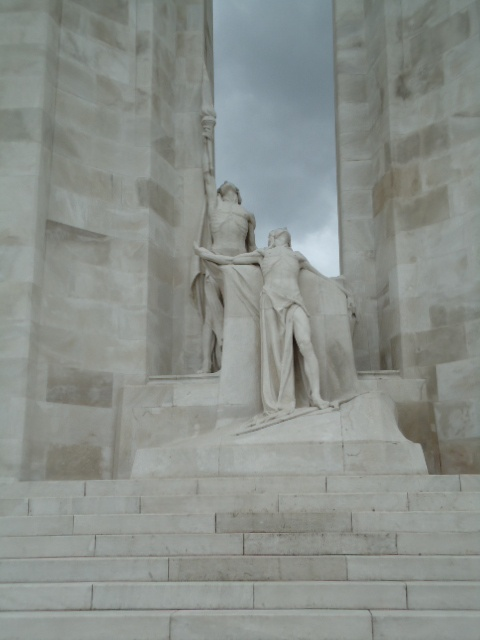 Canadian War Memorial at Vimy Ridge for the sacrifices of WWI