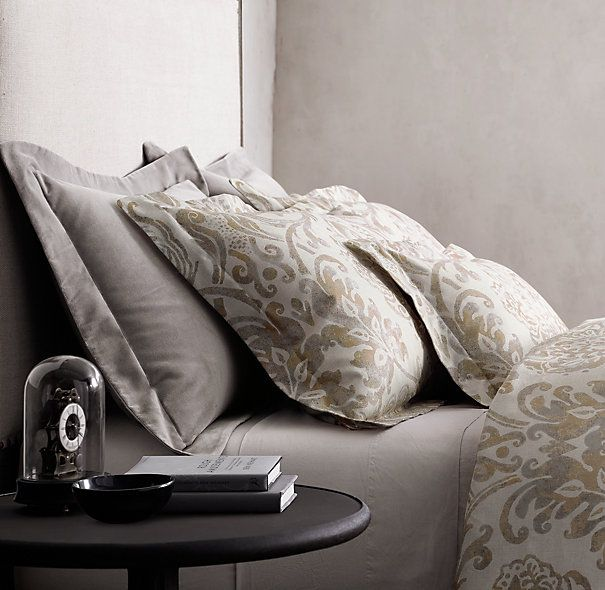 Italian fiore bedding collection linen and things for Duvet covers restoration hardware