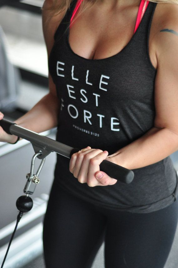 """Elle est forte"" She is strong: Proverbs 31. Women's clothing by SheIsClothing //etsy"