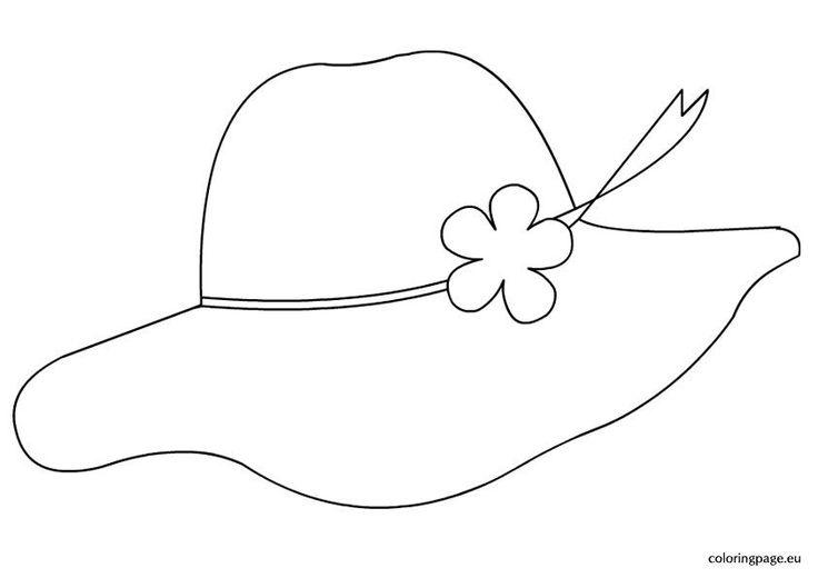 Картинка раскраска для детей шляпка