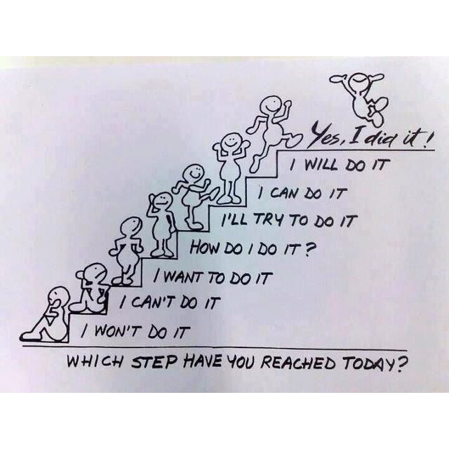 These are the steps most people take to quit smoking. I consider it success when they take one step upward.
