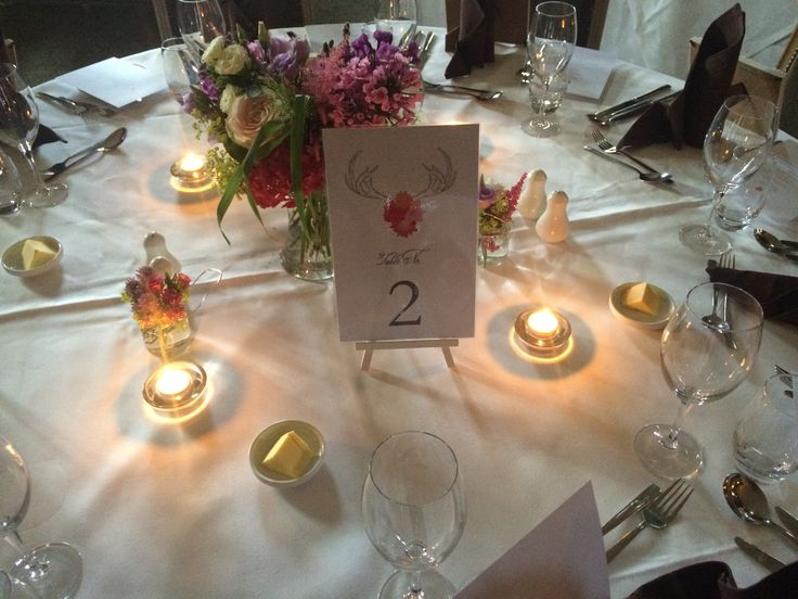Subtle flowers and white linens