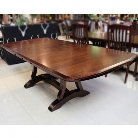 Gallery furniture exclusive design richfield brown maple for Table 52 houston