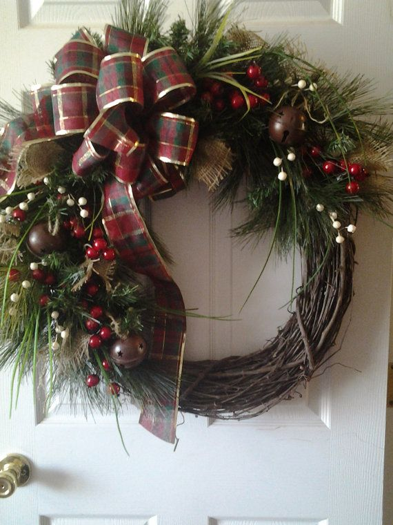 Vintage Classic Christmas Wreath By PriddyStuff On Etsy